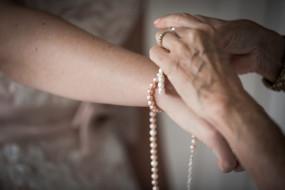 Pearl Bracelet Wedding Detail
