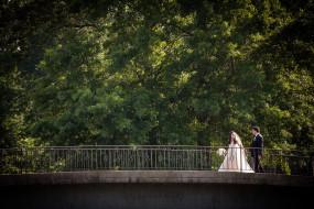 Fiddler's Elbow wedding photography on golf course bridge
