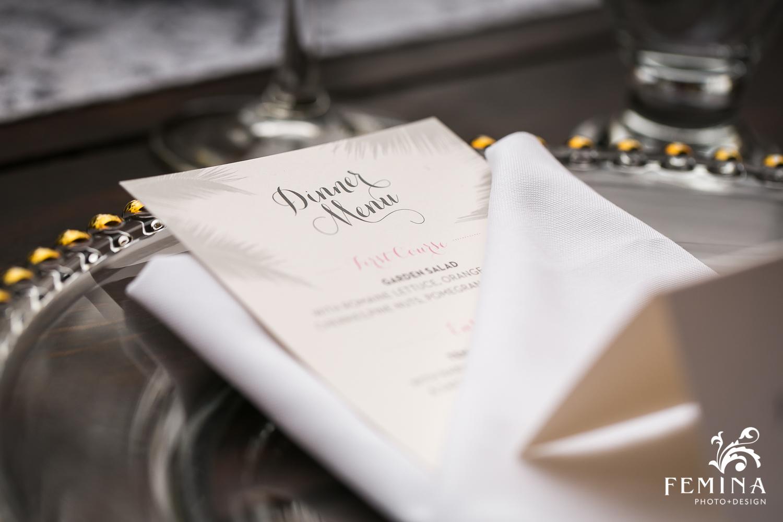 Dinner Menu Destination Wedding