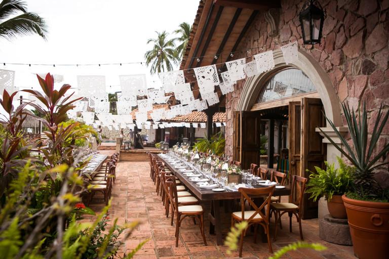Reception Decor at Villa Celeste in Puerto Vallarta