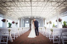 Bride and groom at Mallard Island Yacht Club