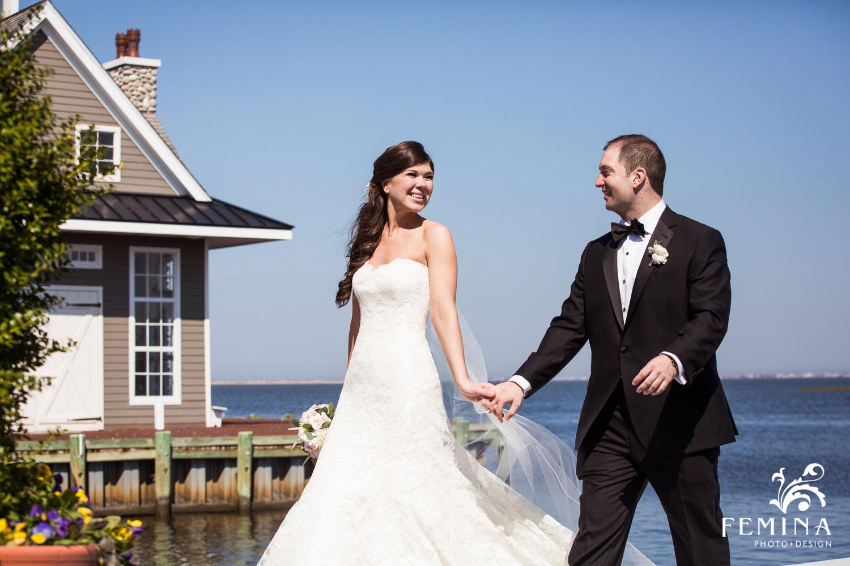 Jackie and Matt taking a stroll at Mallard Island Yacht Club