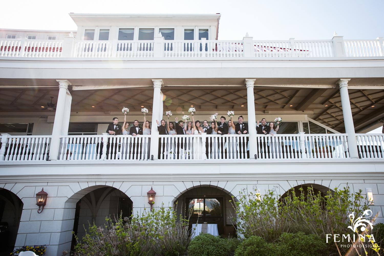 Jackie and Matt's Bridal Party at Mallard Island Yacht Club