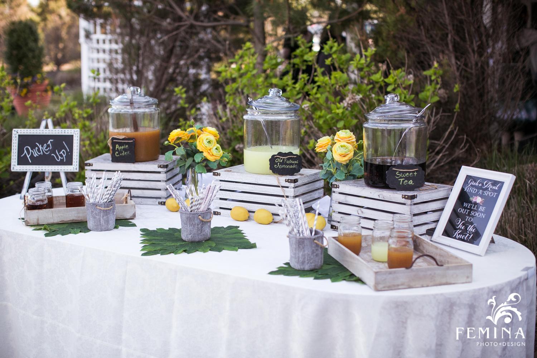 Refreshments Table at Mallard Island Yacht Club