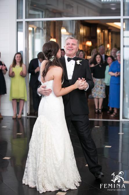 Father and Daughter Dance at Mallard Island Yacht Club Wedding