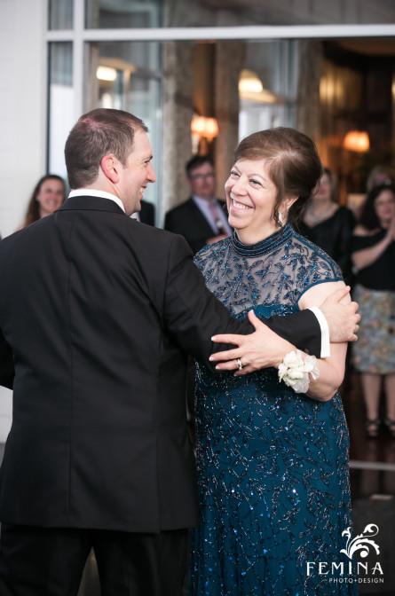 Mother and Son Dance at Mallard Island Yacht Club Wedding
