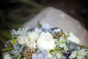 Bridal Bouquet with succulents at Bonnet Island Estate