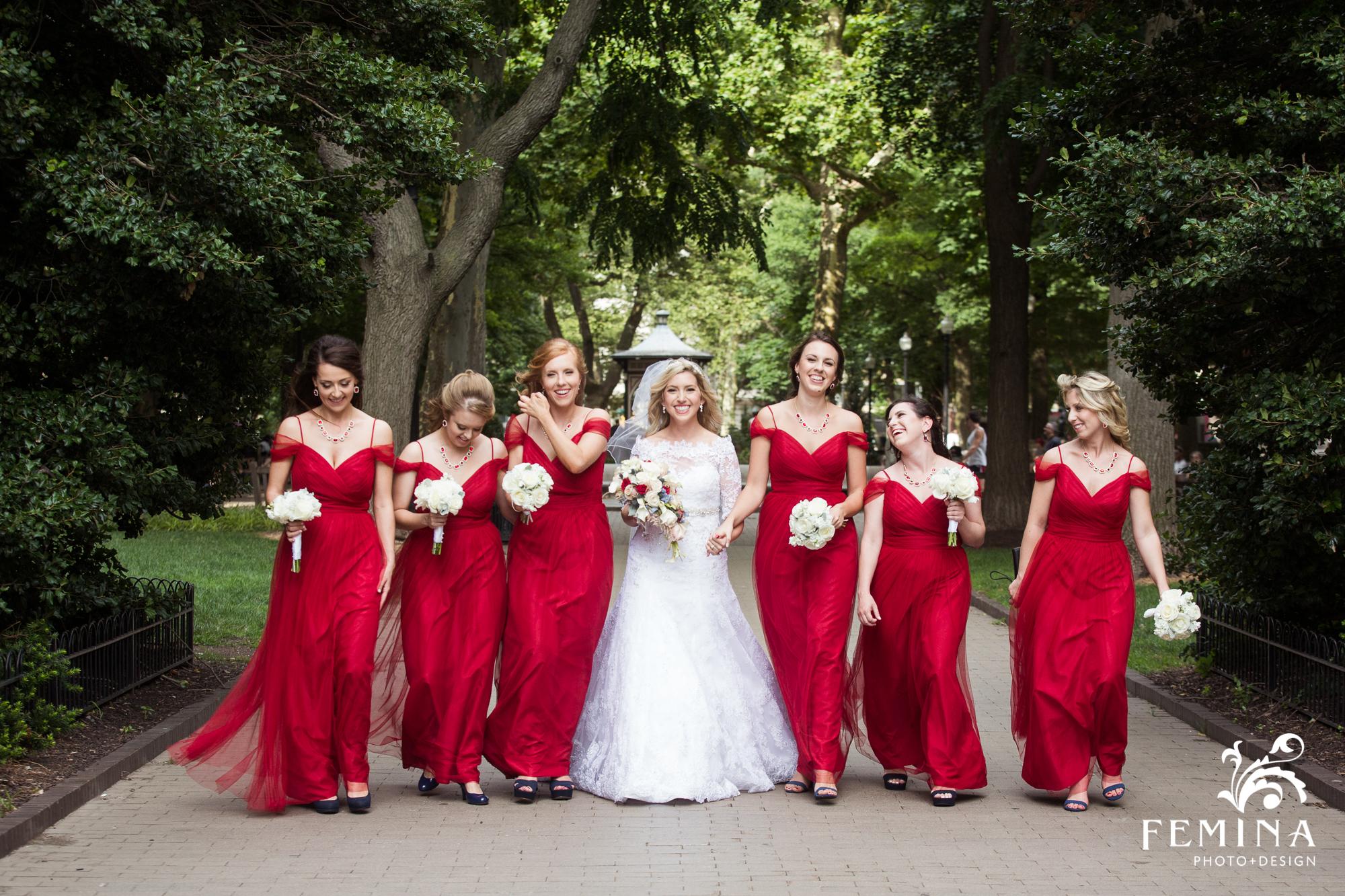 22_Hyatt_at_the_Bellevue_Wedding_Bridesmaids_Walking