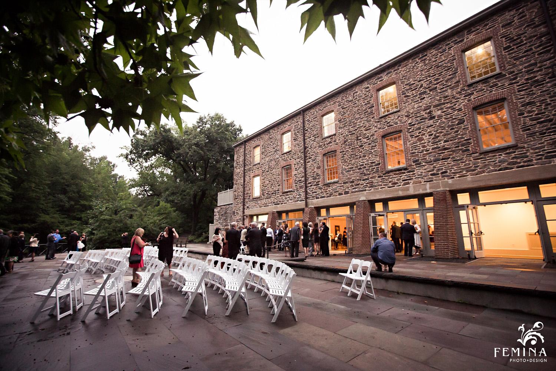 An outdoor view of Marijela and Steven's wedding venue