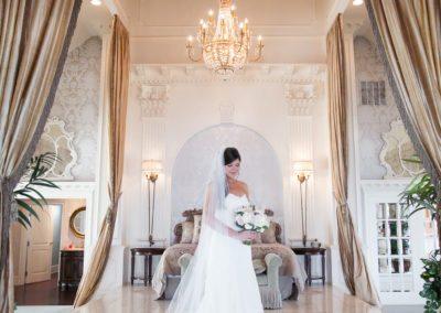 Bride getting ready for Mallard Island Estate wedding day