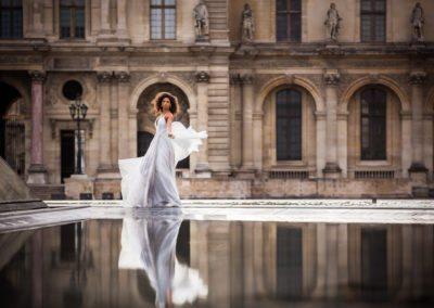 Bride at Paris Destination Wedding in France