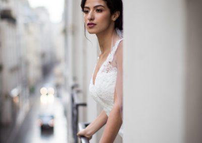 Paris Bride on Wedding Day