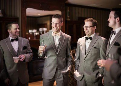 Groomsmen at Florentine Gardens Wedding Venue