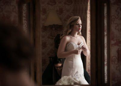 Bride at Pleasantdale Chateau Wedding