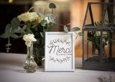 Merci Wedding Sign