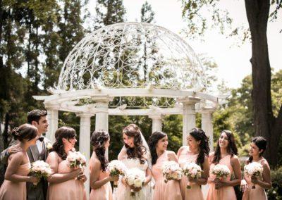 Bride with Bridesmaids at Florentine Gardens wedding