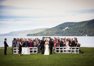 Lakeside Wedding Ceremony at Otesaga Hotel