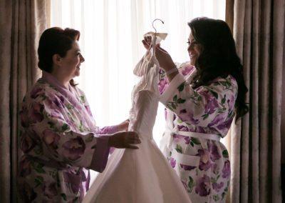 Getting Ready for Bellevue Wedding in Philadelphia