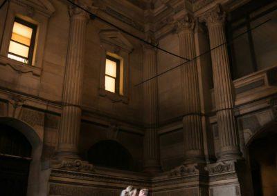 Bride and Groom Portraits at City Hall, Philadelphia