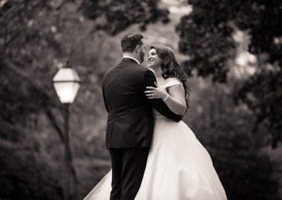 Bride & Groom after Bellevue Wedding in Philadelphia