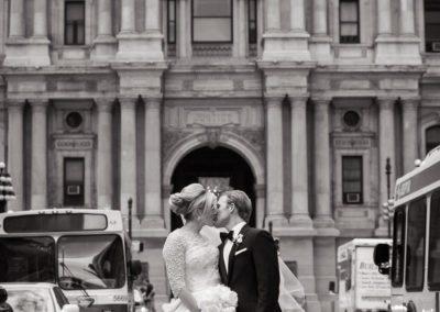 Iconic Wedding Portraits at City Hall, Philadelphia