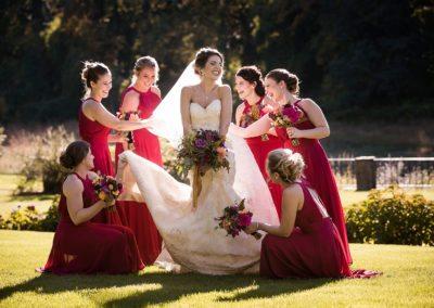 Bridesmaids at Brantwyn Estate wedding in Wilmington, Delaware