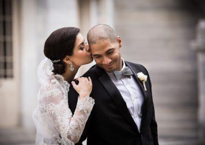 Bride & Groom wedding portraits in Center City, Philadelphia