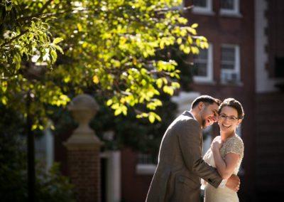 Bride & Groom Wedding Portraits Washington Square Park, Philadelphia