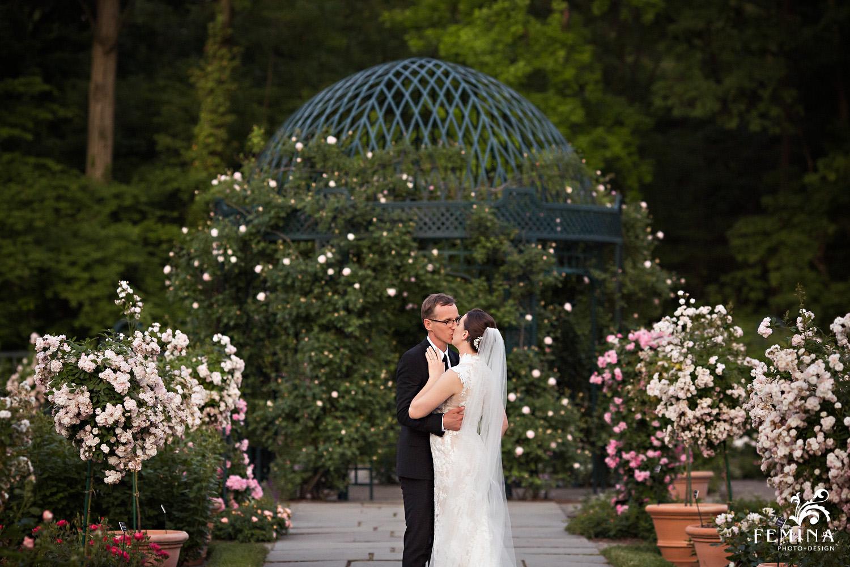 Rose Garden at New York Botanical Garden Wedding