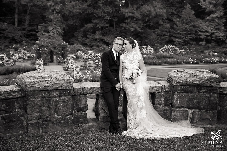 Rose Garden wedding photos at New York Botanical Gardens
