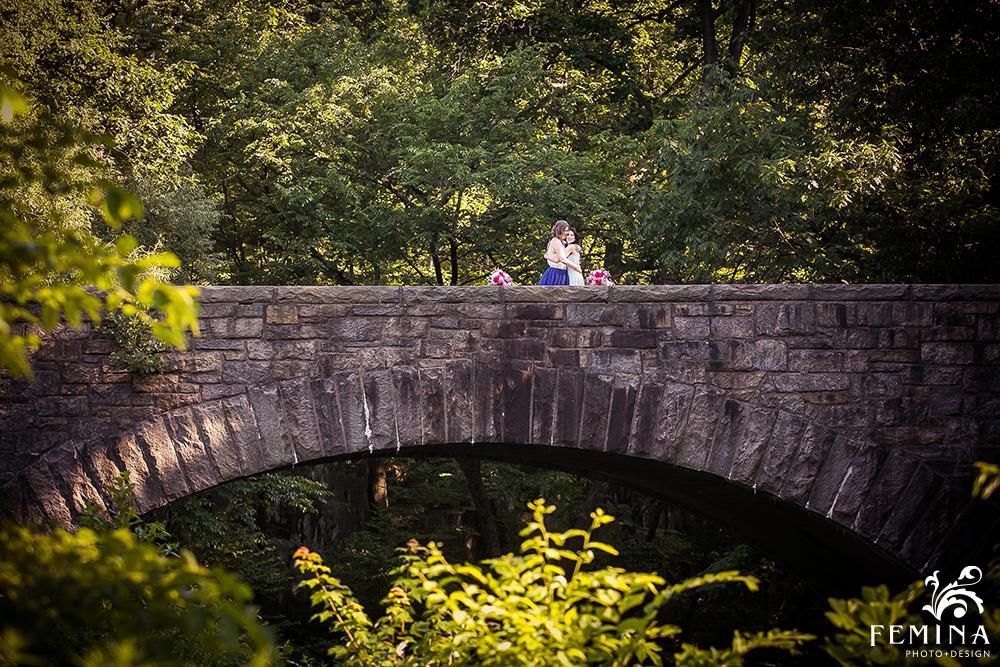 New York Botanical Garden Wedding of beautiful LGBT couple