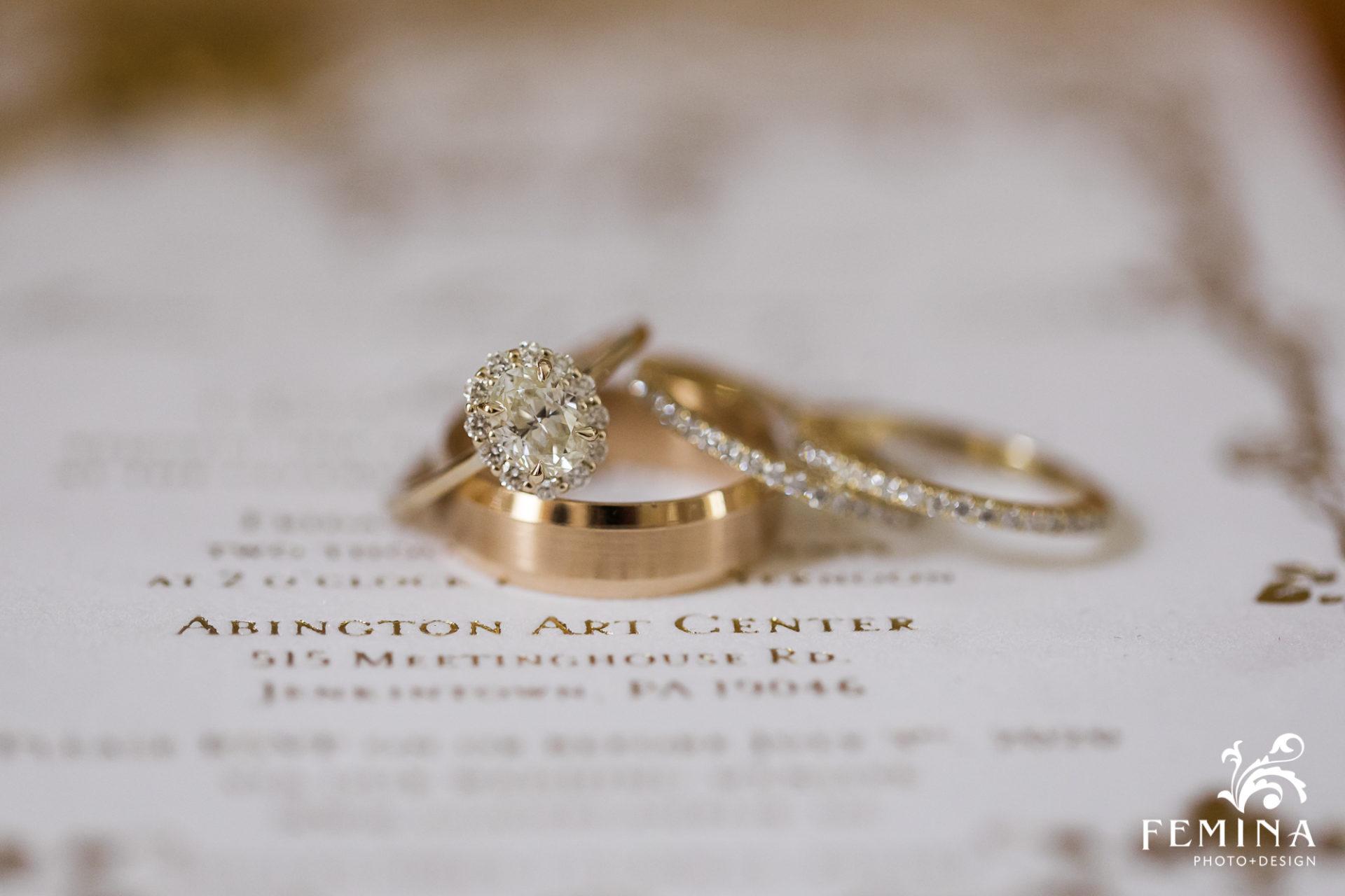 Ring details at Cairnwood wedding