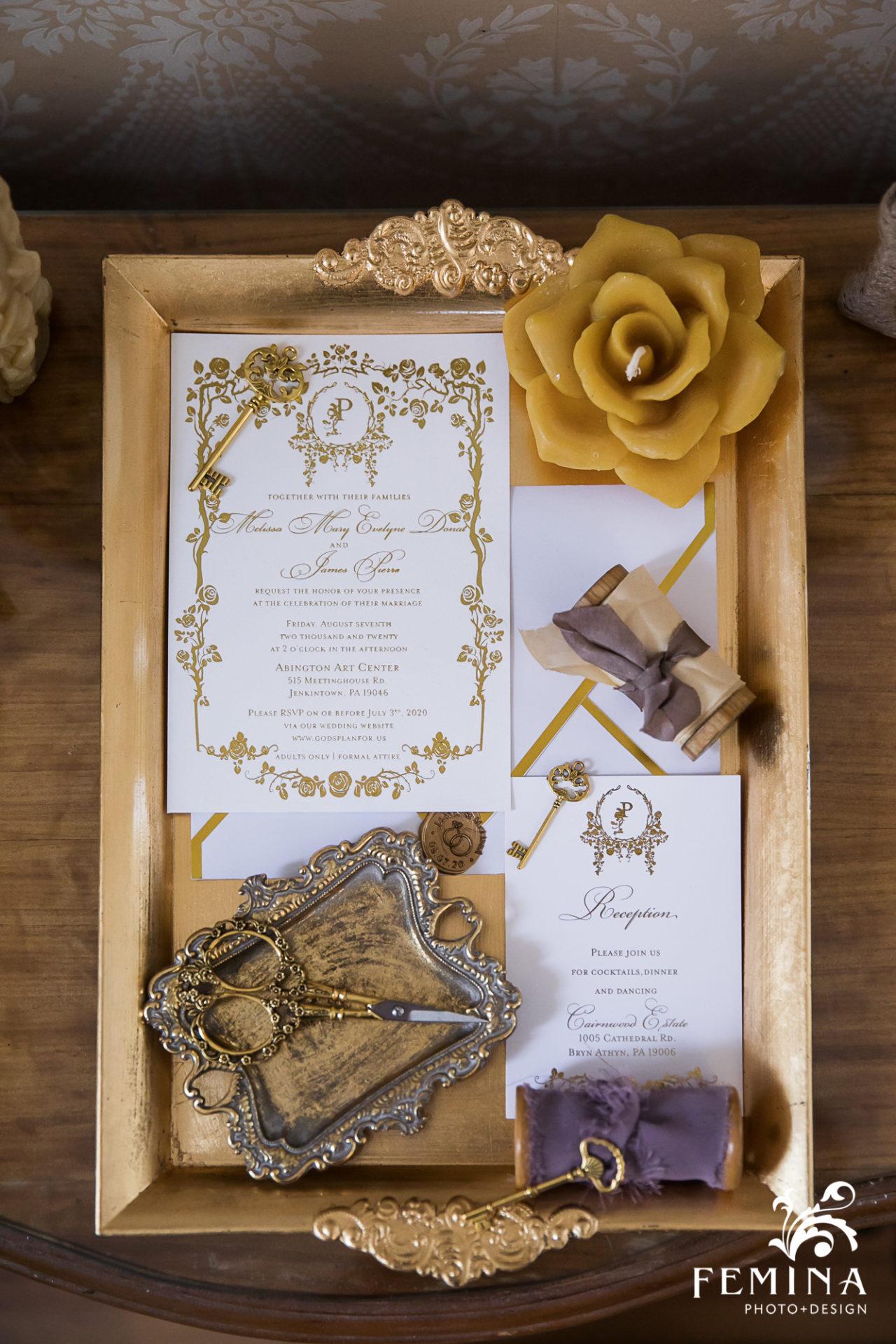 Bridal details at Cairnwood wedding